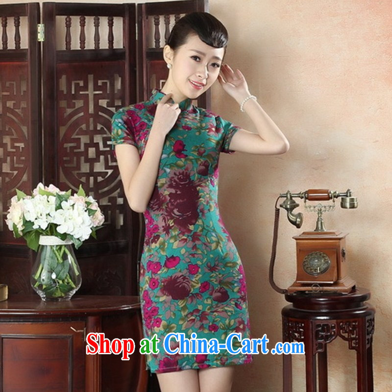 Factory outlets were also new cheongsam wholesale 2015 summer new linen cotton the cheongsam stylish improved YM XXL 0007