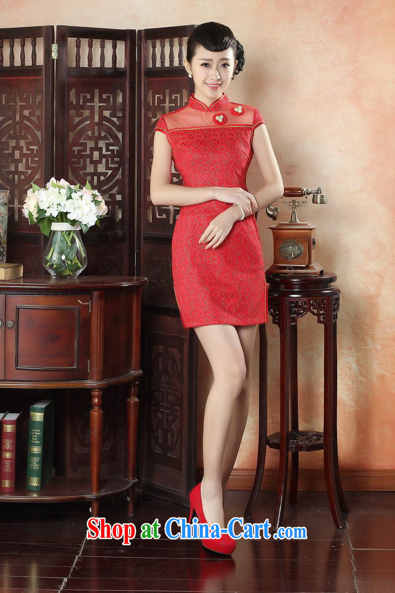 New summer, autumn day lace cheongsam dress Stylish retro beauty improved elegant short cheongsam dress wholesale LS 0009 XXL pictures, price, brand platters! Elections are good character, the national distribution, so why buy now enjoy more preferential! Health