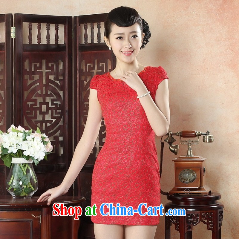 New autumn fashion summer dresses retro elegance beauty graphics thin cheongsam dress with her mother dress qipao batch LS XXL 0013