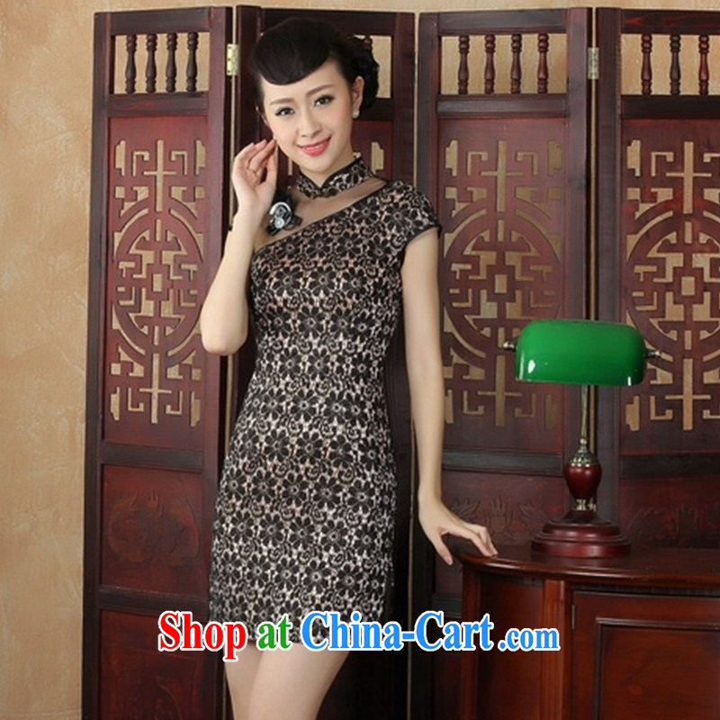 In Gangnam night dresses dresses 2014 new stylish and refined beauty charm lady lace daily outfit black XXL