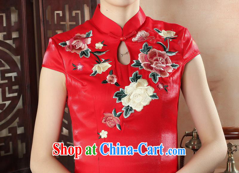 Factory direct red embroidery dresses bridal dresses large yards, Chinese artist dress CQP 0011 XXL pictures, price, brand platters! Elections are good character, the national distribution, so why buy now enjoy more preferential! Health