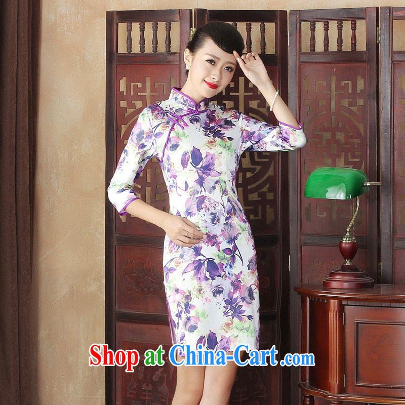 New fall with improved modern cheongsam dress daily retro elegance beauty wholesale cheongsam dress TLMZX XXL 0005