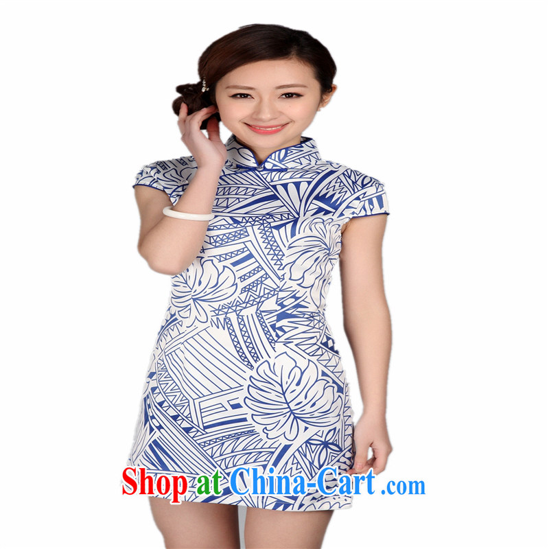 Wholesale new daily improved short retro dresses dresses beauty is not the Lao classical cheongsam white XXL