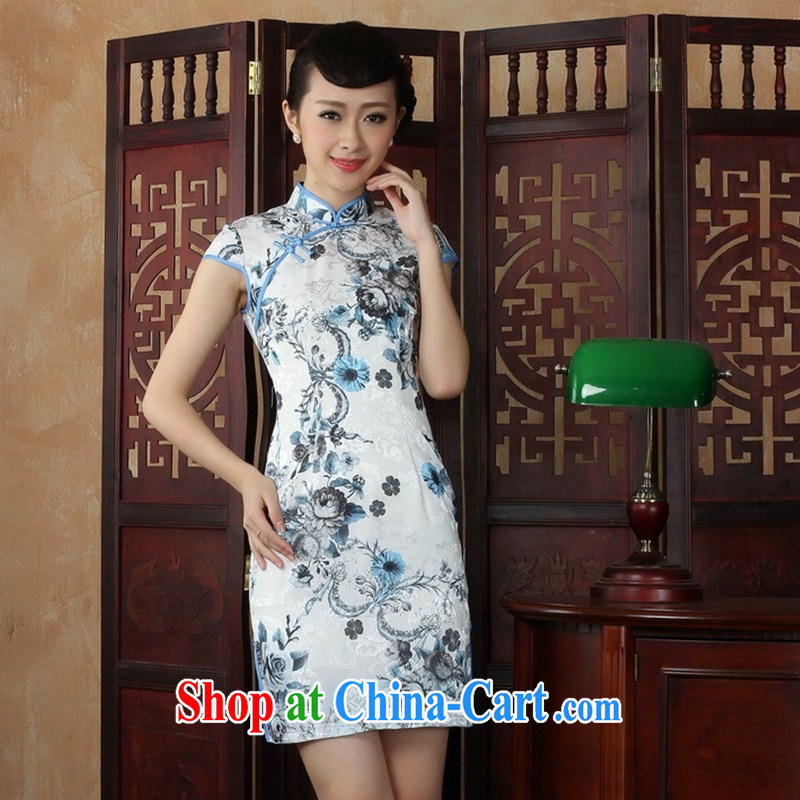 Wholesale new daily improved short retro dresses dresses beauty is not the Lao classical daily outfit YHM XXL 0038