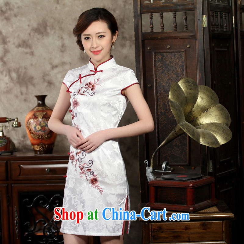 Wholesale new, improved embroidery cheongsam improved Stylish retro Sau San Tong with everyday goods low the forklift truck 0004 THM M