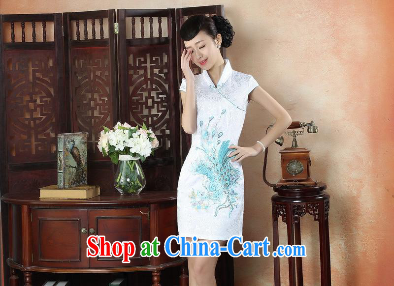 New, red phoenix antique dresses beauty summer dress stylish improved daily cheongsam dress wholesale black XXL pictures, price, brand platters! Elections are good character, the national distribution, so why buy now enjoy more preferential! Health