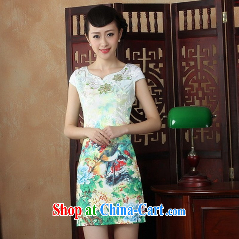 Wholesale new daily improved short retro dresses dresses beauty is not the Lao classical cheongsam THM XL 0035