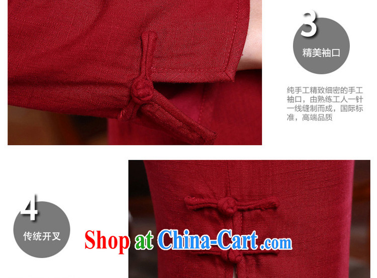 pro-am day 2015 spring new style beauty short, long-sleeved retro improved stylish cotton the cheongsam dress red 2 XL - waist 86 CM pictures, price, brand platters! Elections are good character, the national distribution, so why buy now enjoy more preferential! Health