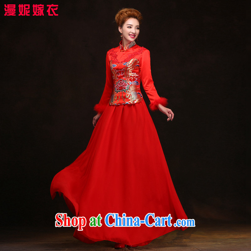 man she married Yi Manni Chinese improved cheongsam 2015 spring and summer new bride toast wedding dresses WYFC XXL 6098