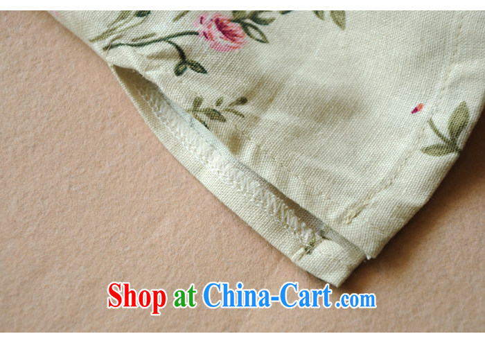 The TSU defense (Azouari) Female cotton Ma Han-Chinese Antique spring and summer with the charge-back linen short-sleeve improved, qipao white M pictures, price, brand platters! Elections are good character, the national distribution, so why buy now enjoy more preferential! Health