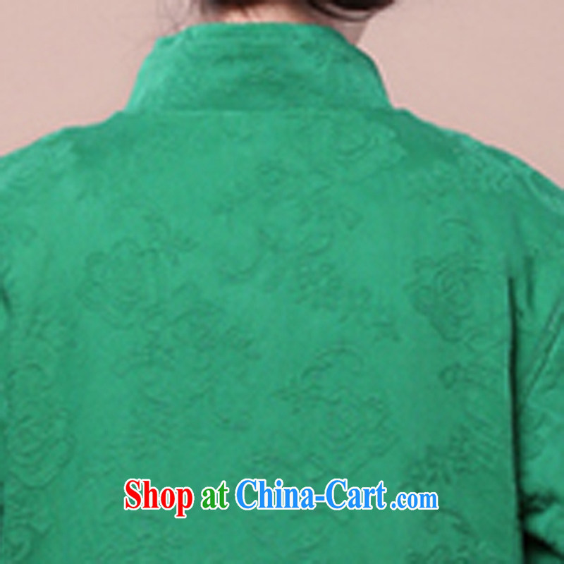 2015 spring girls decorated in stylish cotton jacquard Tang jackets kit to sell green package XXXXL, maple and Ling (fengzhiling), shopping on the Internet