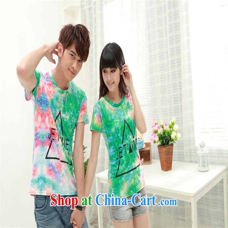 Deloitte Touche Tohmatsu sunny store new Couple T-shirts FL 38,075 serving on the Service red-and-green XXL
