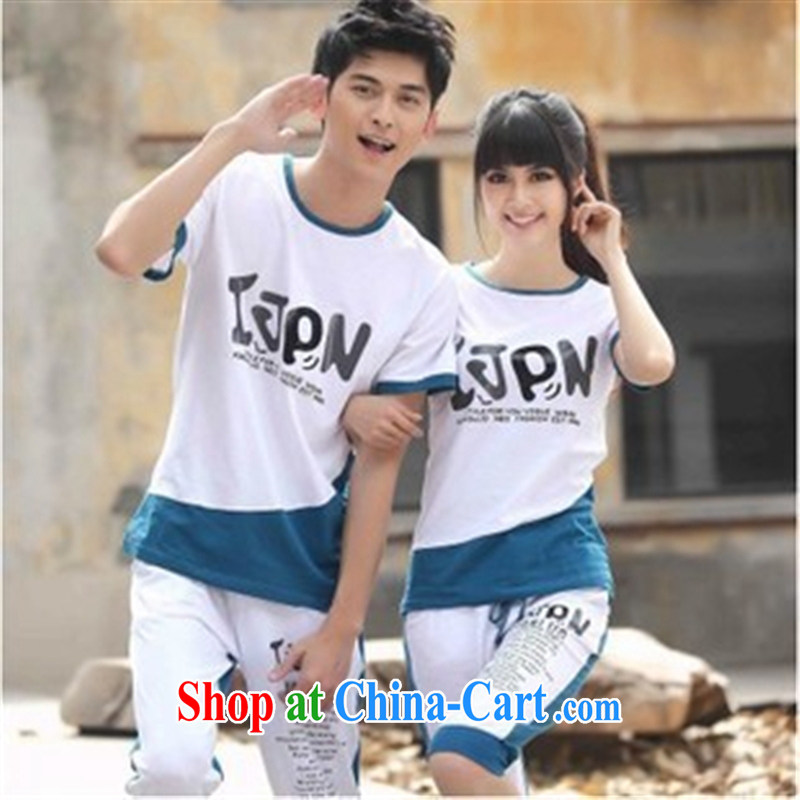 Qin Qing store couples Leisure package single package 9467237 white women M _with shorts_
