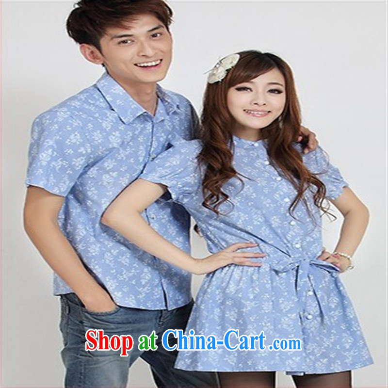 Qin Qing store couples with summer, new Korean women Dress Shirt 946,678 dark gray XXL
