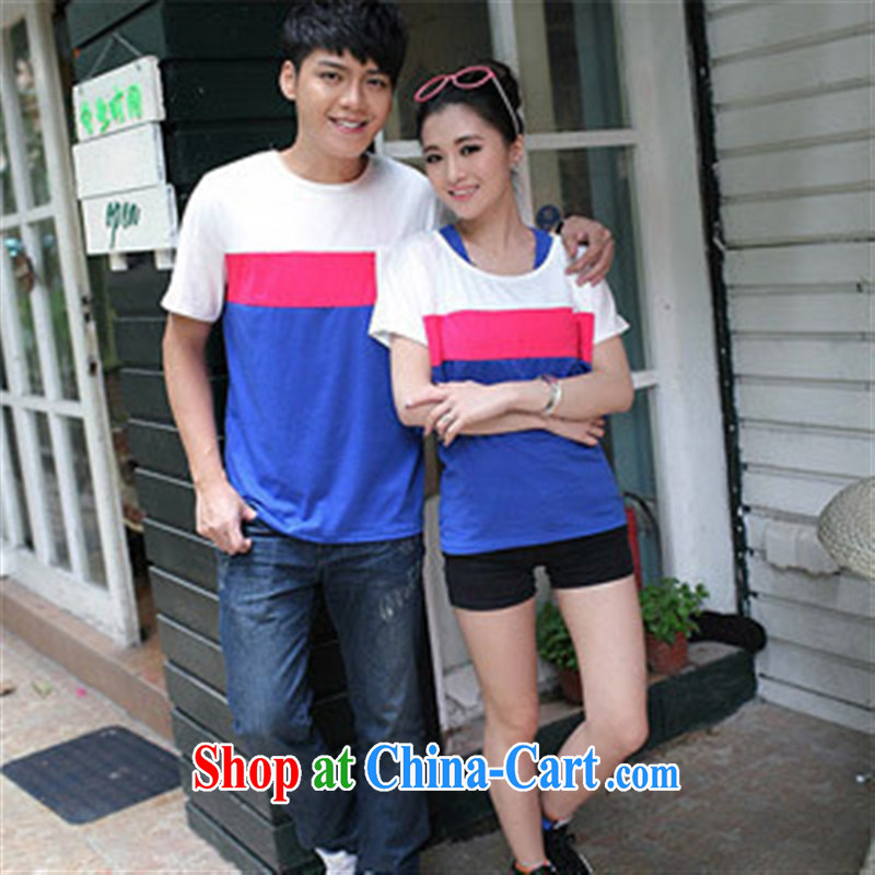 Qin Qing store for couples with a short-sleeved shirt T female, two-piece 358,206 single-piece price photo color male XXL