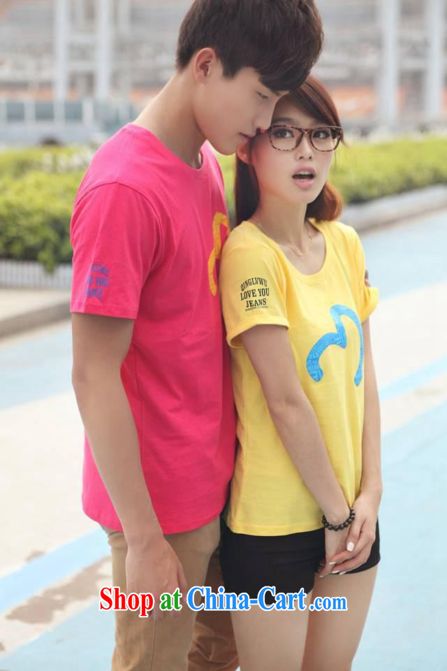 Qin Qing store new Korean couples with summer short-sleeve T pension special stamp coat drop 946,671 blue XXXL pictures, price, brand platters! Elections are good character, the national distribution, so why buy now enjoy more preferential! Health