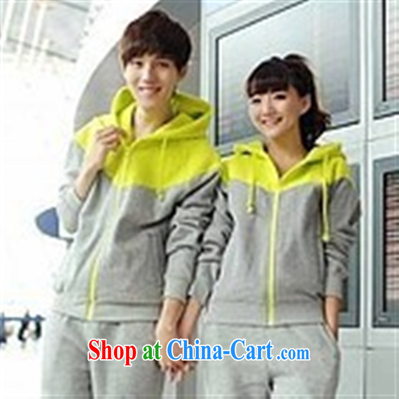 Qin Qing store couples package with blue spell gray XXL