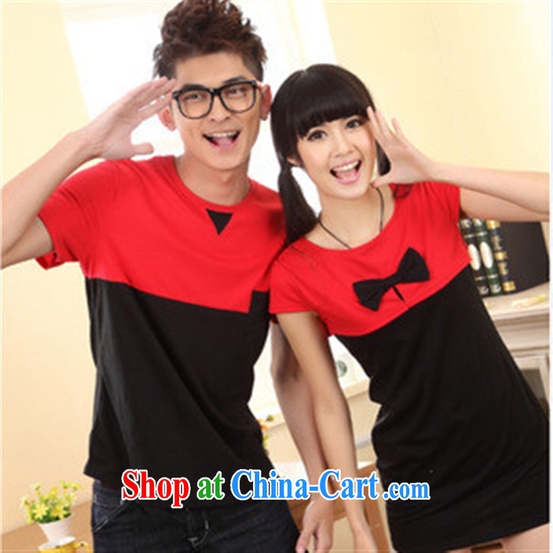 Qin Qing store couples with male T shirts dresses 7358205 Single Piece price red male XXL