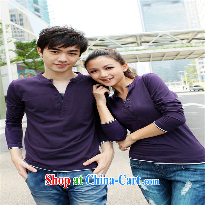 Qin Qing store couples with long-sleeved T-shirt leave two 946,686 white men XXXL