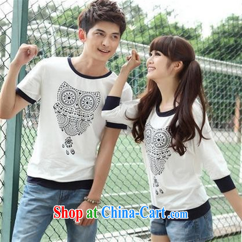 Deloitte Touche Tohmatsu sunny store new owl T-shirts for couples with FL 38,054 serving on the uniform white male XXL