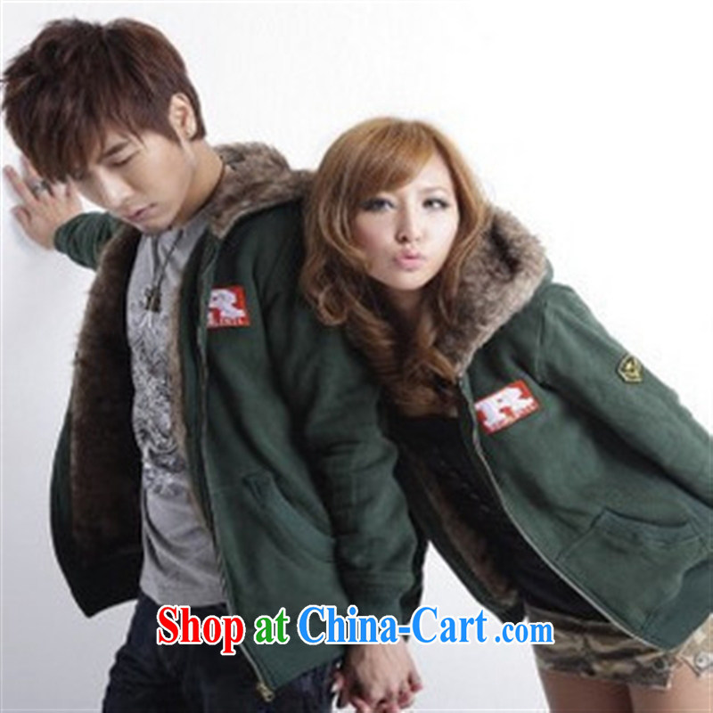 Qin Qing store Fall/Winter Fashion Korean couples with quilted coat cotton suit couples jacket 946,653 single price gray XXXL
