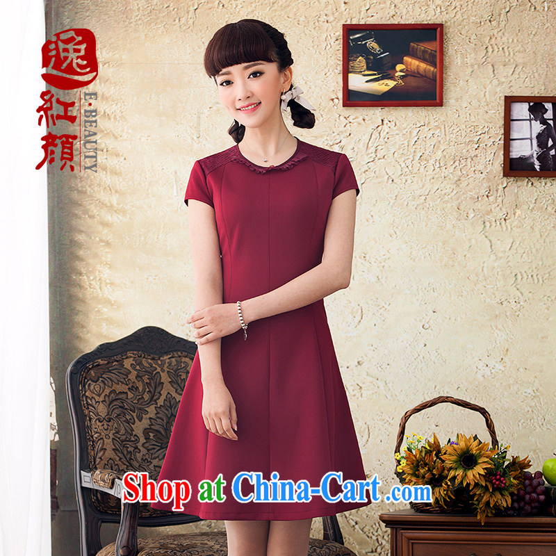 once and for all, fatally jealous smoke Chinese Ethnic Wind dresses women 2015 new spring and summer beauty style skirt retro red 2 XL March 27, after shipment