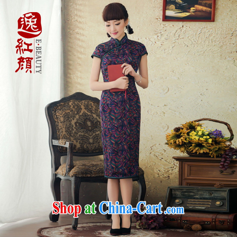 proverbial hero once and for all from Hong Kong Hong Kong stamp duty cloud dresses qipao improved stylish 2015 spring and summer new retro dresses dresses floral 2 XL
