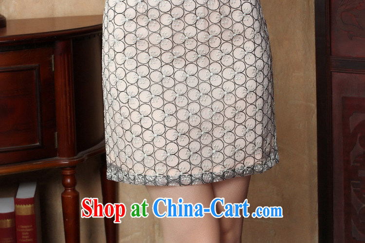 Bin Laden smoke-free summer new cheongsam dress Ethnic Wind female lace beauty dresses skirts stylish improved retro short cheongsam picture color 2 XL pictures, price, brand platters! Elections are good character, the national distribution, so why buy now enjoy more preferential! Health