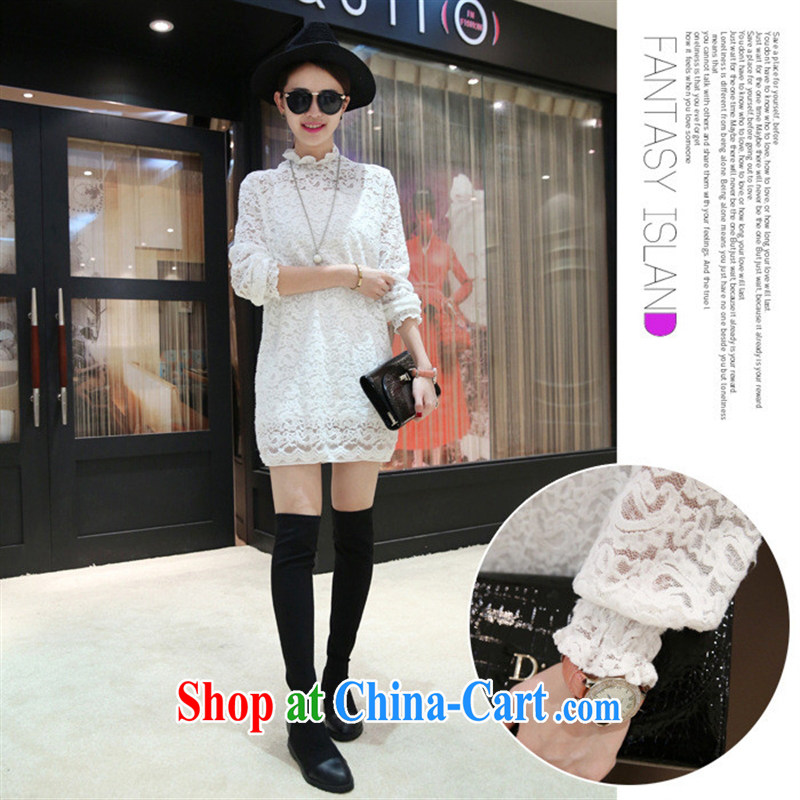 Ya-ting store pregnant with new spring style lace up collar lace long-sleeved maternity dress dark gray are code