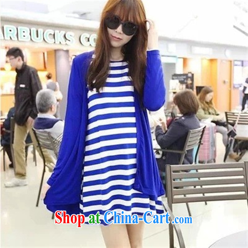 Ya-ting store pregnant women with stylish Korean autumn with new, larger two-piece maternity dress cardigan picture color XL