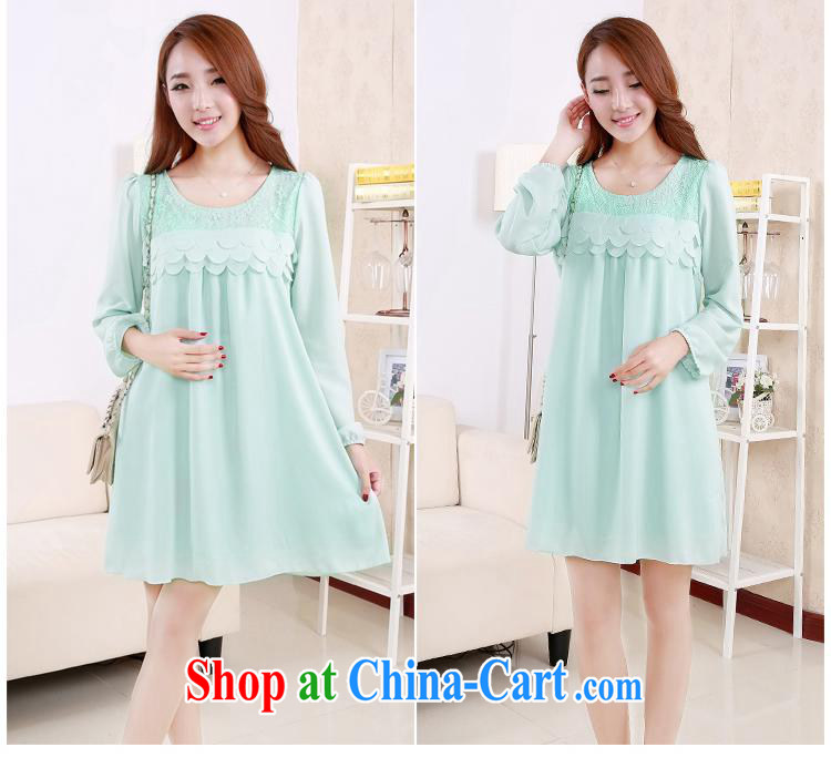 Ya-ting store pregnant women with spring loaded lace stitching snow woven loose long-sleeved maternity dress beige XL pictures, price, brand platters! Elections are good character, the national distribution, so why buy now enjoy more preferential! Health