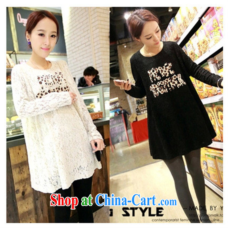 Ya-ting store 2015 new pregnant women with spring loaded long-sleeved maternity lace dresses white XL
