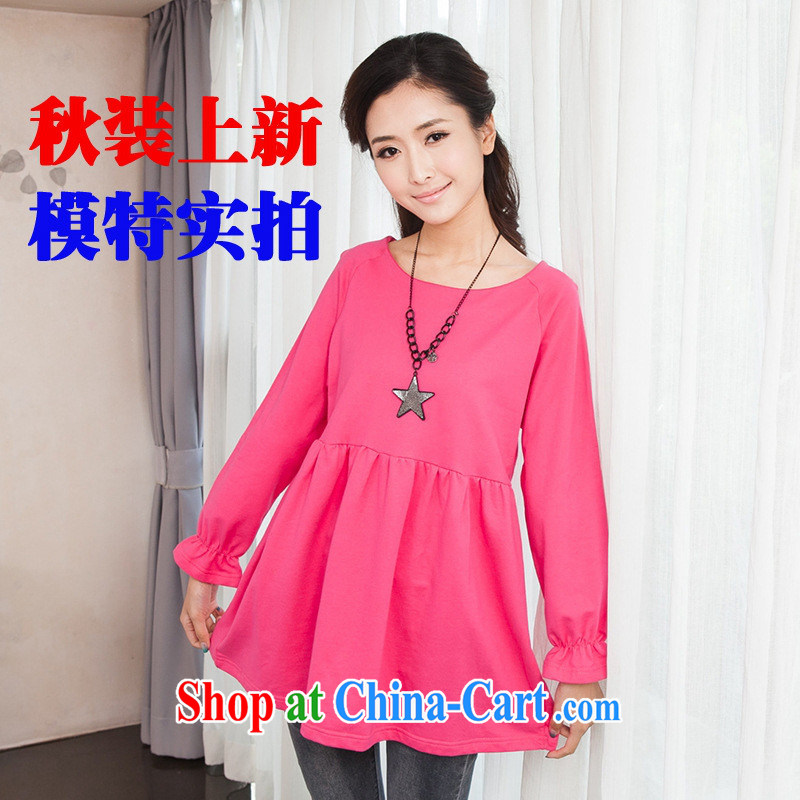 Ya-ting store pregnant women with autumn Korean version 100 to ground, the pregnant women long-sleeved dress pregnant women skirts of red XL