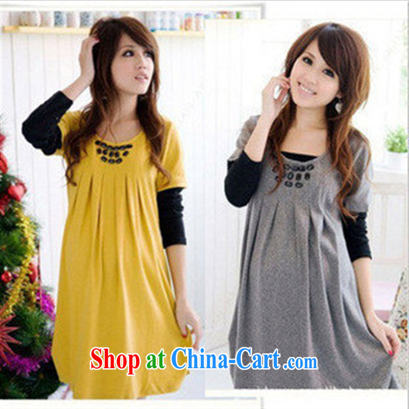 Ya-ting store pregnant women with new Korean long-sleeved maternity dress gray are code