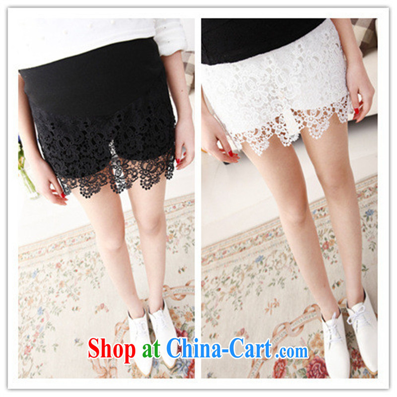 Ya-ting store spring 2015 stylish pregnant women with super star pattern lace pregnant women and abdominal skirt pants skirts white XL