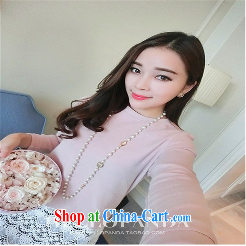 Ya-ting store pregnant women in Europe and spring loaded new paragraph before the spell lace long-sleeved maternity dress pink XL