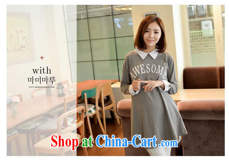 Ya-ting store fall 2014 new pregnant women, the Korean version cute lapel letter stamp pregnant women dress black are code pictures, price, brand platters! Elections are good character, the national distribution, so why buy now enjoy more preferential! Health