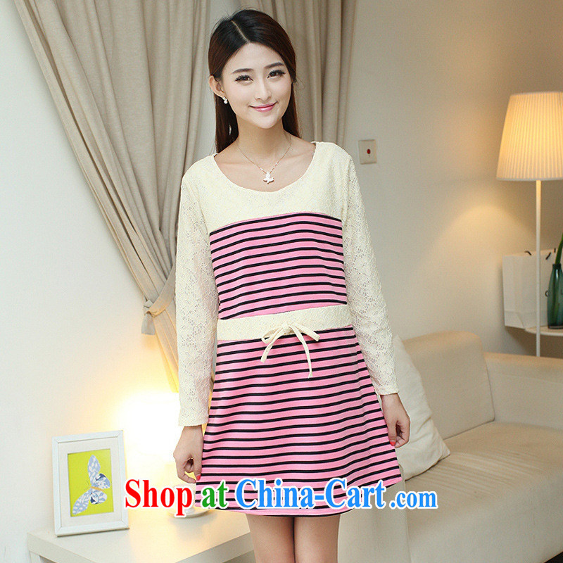 Ya-ting store pregnant women with stripes stitching pregnant women dresses picture color XL