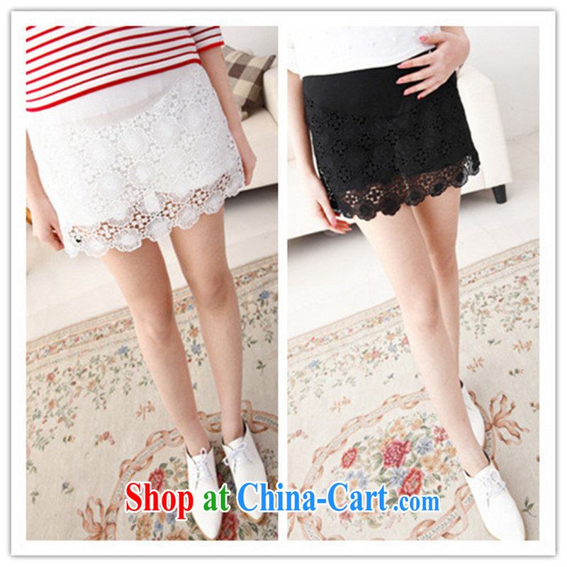 Ya-ting store spring 2015 stylish pregnant women with snowflake pattern lace pregnant women and abdominal skirt pants skirts white XL