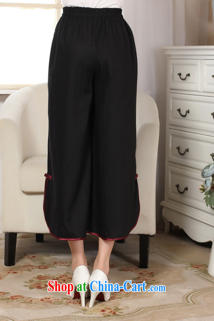 And Jing Ge Ms. pants summer costumes Han-wide legged pants Ethnic Wind girls pants black M pictures, price, brand platters! Elections are good character, the national distribution, so why buy now enjoy more preferential! Health