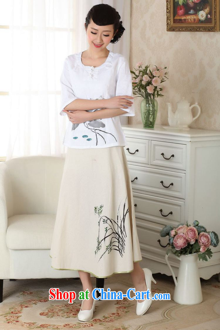 And Jing Ge female body skirt summer ground 100 ethnic wind cotton Ma hand-painted dress skirt P 0011 photo color XL pictures, price, brand platters! Elections are good character, the national distribution, so why buy now enjoy more preferential! Health