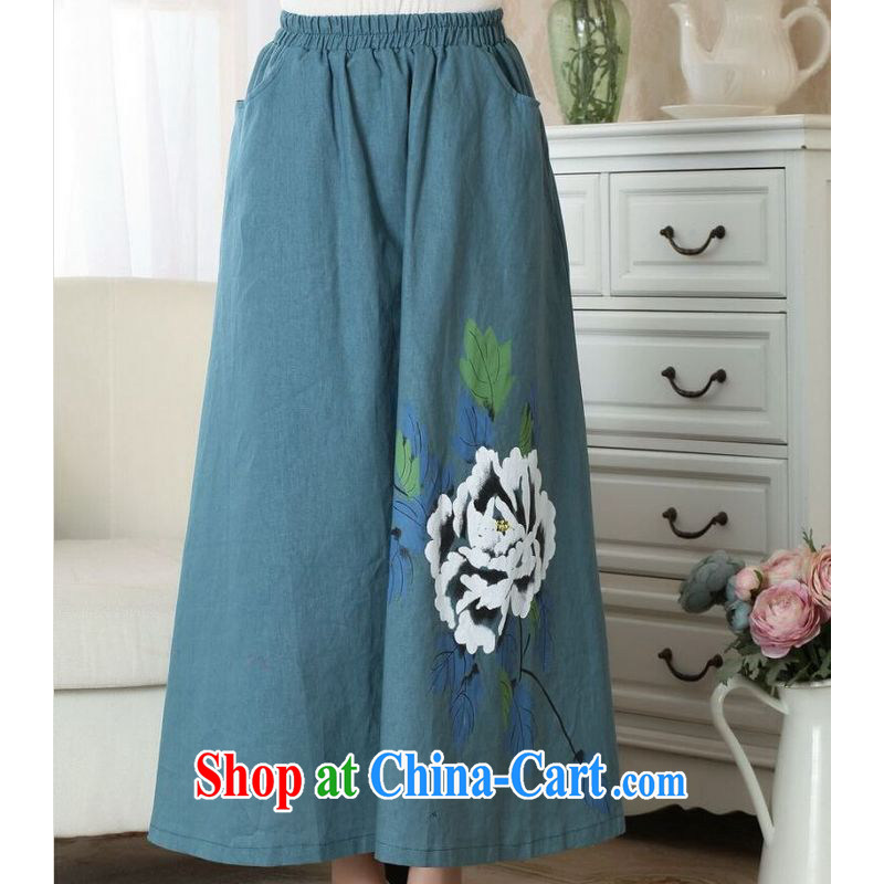 And Jing Ge female body skirt summer China wind retro plug-bag Elastic waist large female skirt P 0010 photo color M