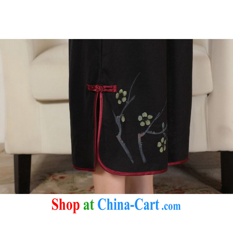Shanghai optimization option, Ms. Tang pants summer costumes Han-wide legged pants Ethnic Wind girls pants black L, Shanghai, optimize, and shopping on the Internet
