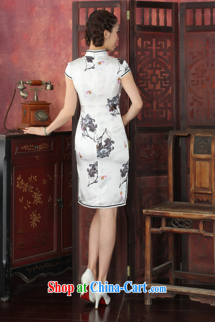 Dan smoke summer outfit New female Chinese improved, leading boutique sauna Silk Cheongsam antique paintings Silk Cheongsam as color 2XL pictures, price, brand platters! Elections are good character, the national distribution, so why buy now enjoy more preferential! Health