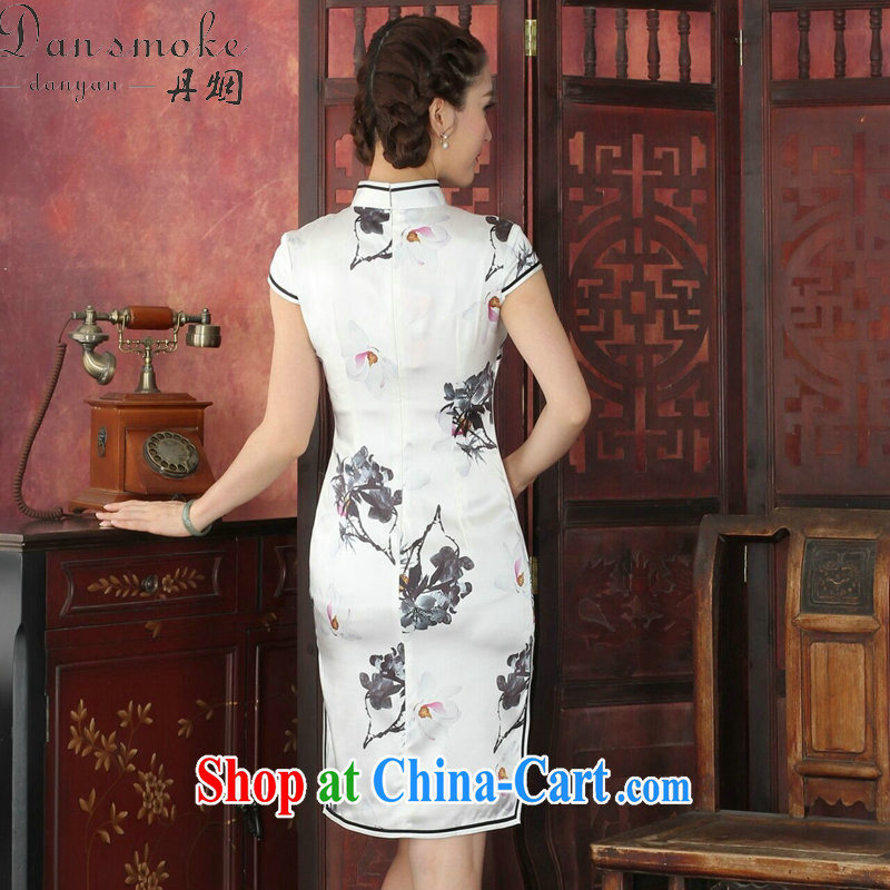 Dan smoke summer outfit New female Chinese improved, leading boutique sauna Silk Cheongsam antique paintings Silk Cheongsam as color 2XL, Bin Laden smoke, shopping on the Internet