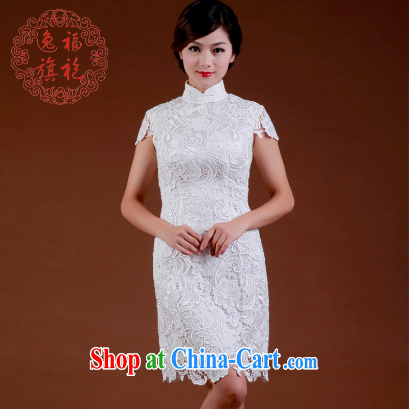 once and for all, white lace cheongsam dress improved cheongsam dress small short marriage beauty dresses advanced custom white tailored 10 day shipping