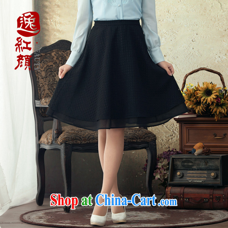 once and for all and fatally jealous Summer Dream spring 2015 National wind body skirt New A Field skirt stylish beauty Chinese girls short skirts black M