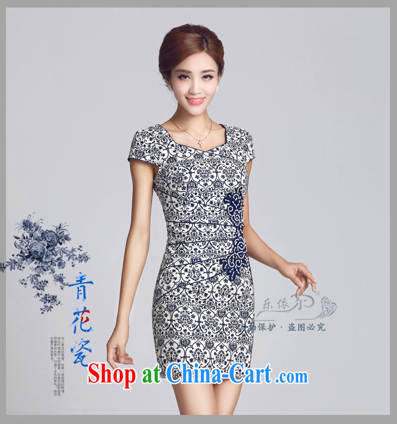 And, according to spring new outfit blue and white porcelain antique Ethnic Wind improved cheongsam dress daily retro 2015 blue and white porcelain color S pictures, price, brand platters! Elections are good character, the national distribution, so why buy now enjoy more preferential! Health