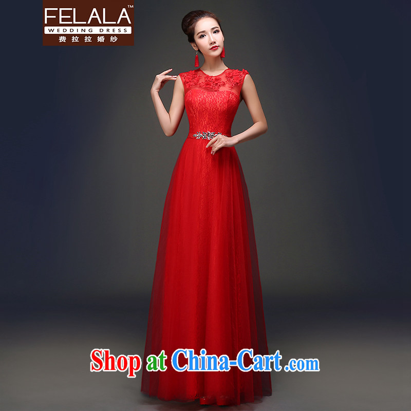 Ferrara 2015 spring and summer new sweet lovely round-collar graphics thin graphics high-toast clothing dress red M Suzhou shipping