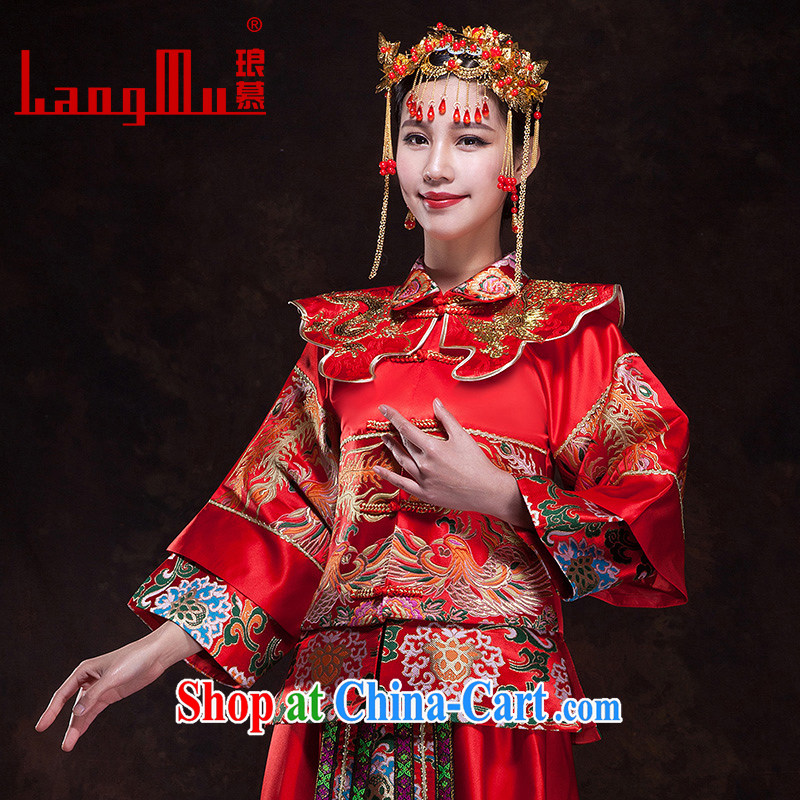 In Luang Prabang in 2015 OF NEW Su-wo Service Bridal wedding dresses long sleeved toast clothing dresses use Phoenix Chinese married Yi wedding winter XL